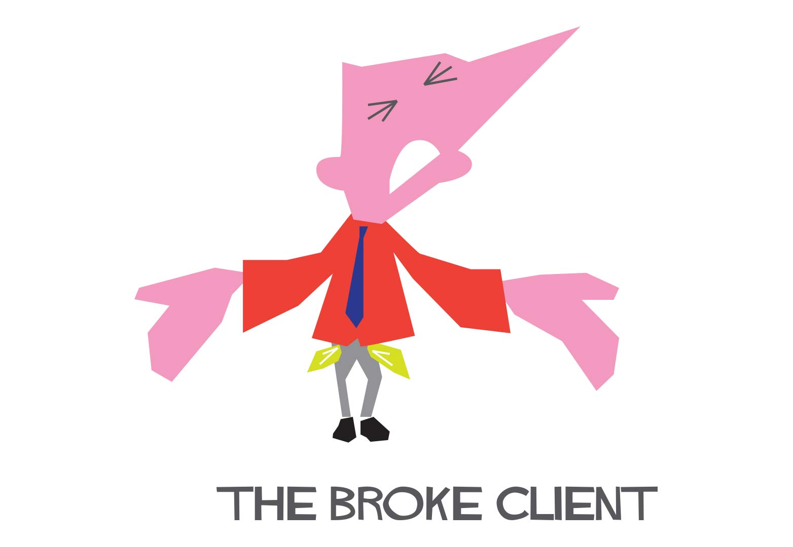 Fluid Web Development, Broke Client